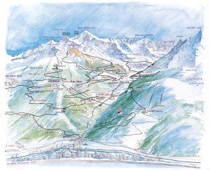 Peisey Vallandry Piste Map