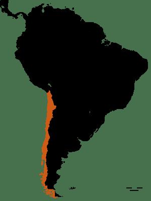 Carte du Chili - DESTINATIONS LATINES