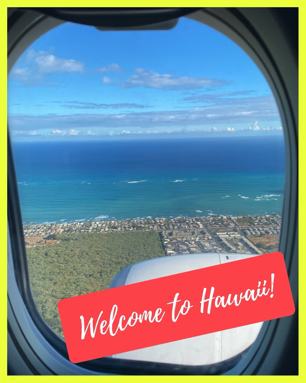 We are finally on our way! Let's travel to  Hawaii!