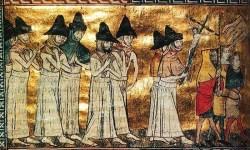Procesiune ciudată din Evul Mediu