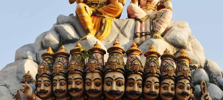 Demonul Ravana, inamicul lui Rama în epopeea mitologică Rāmāyana