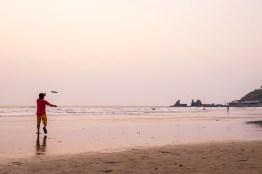 Frisbee on Goan beach