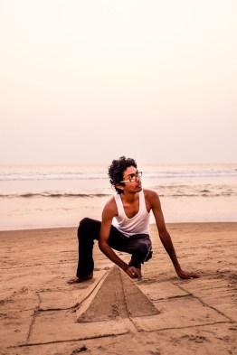 Creativity on Goan beach