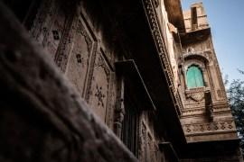 Detail of house in Jaisalmer fort