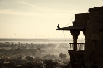 Skyline of the new city of Jaisalmer