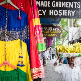 Banana salesman in Mumbai streets