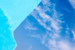 Blue walls, blue sky