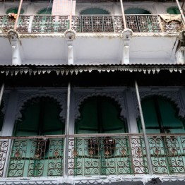 The haveli from below
