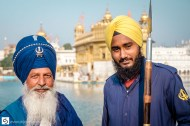 A Sikh warrior and a young guard