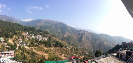 iPhone panorama view from guest house