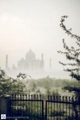 Enjoying Taj Mahal at dawn