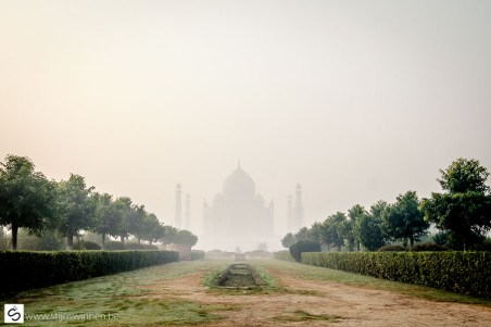 Taj Mahal in the distance