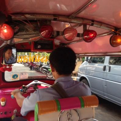 Tuk tuk ride in Bangkok