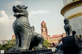 Dragon statue in park