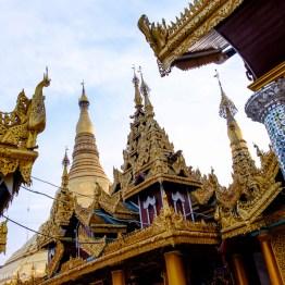 Shwedagon Pagoda and surrounding golden towers