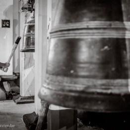 Boy hitting the bell