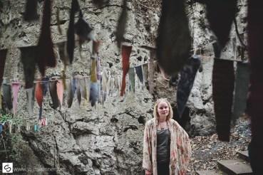 Elize near the bat cave