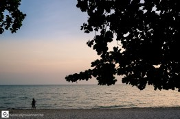 Right after sunset at Kep beach