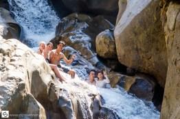 Swimming at Ba Ho Waterfalls