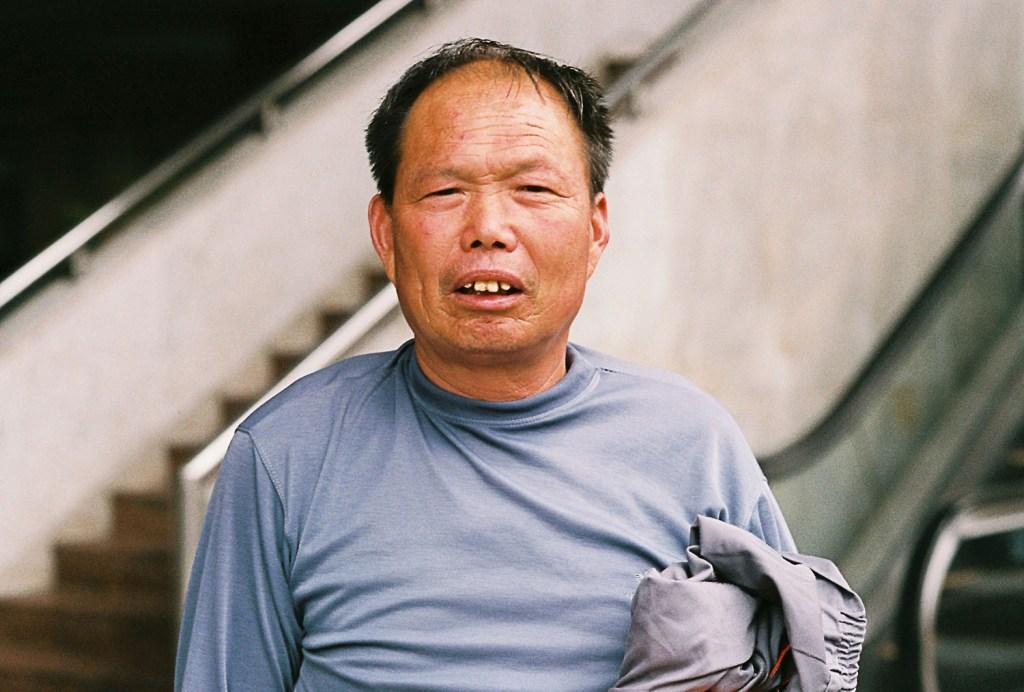 Homem chinês bêbado