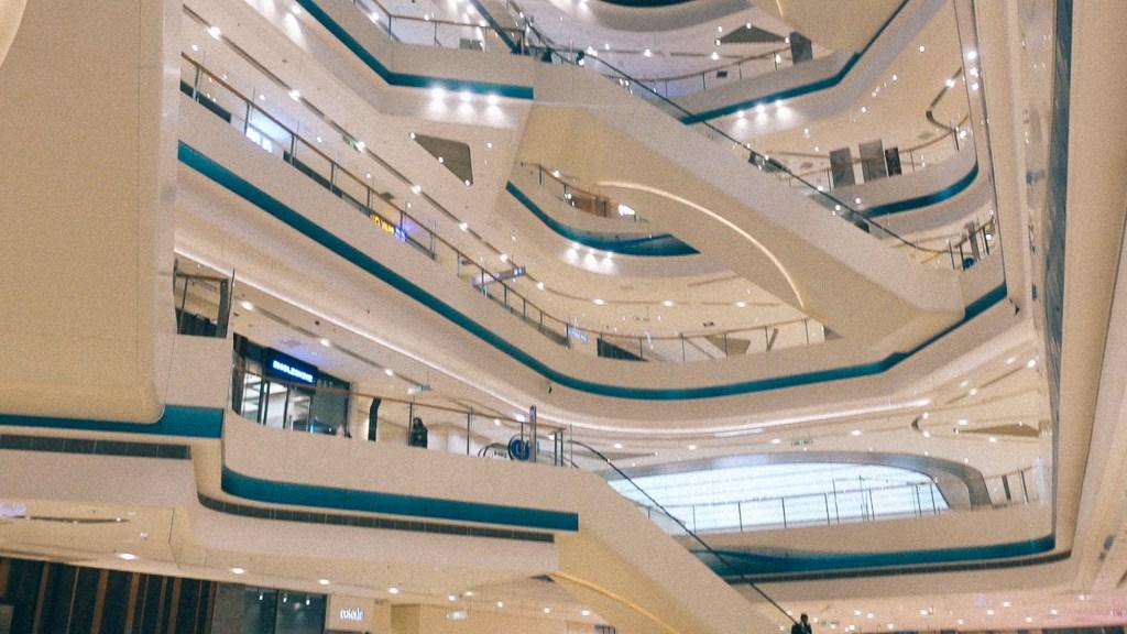 Complemento de linha aproveitando Foto de perfil de escadas rolantes em shopping na China