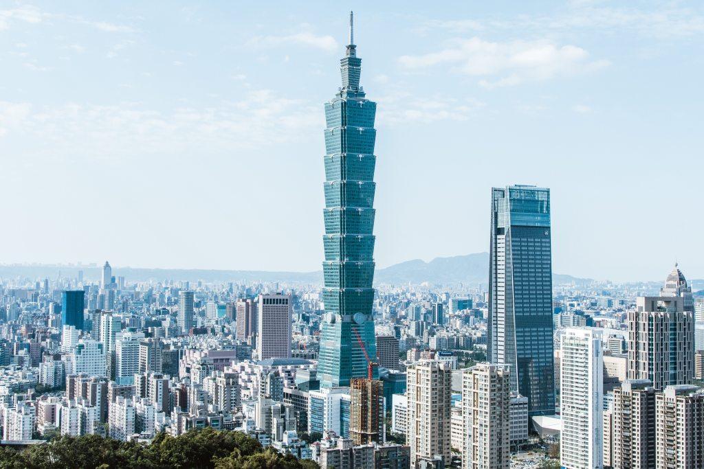 Visto para Taiwan Vista cidade urbana em Taiwan