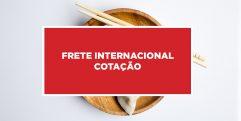 Frete internacional cotação Cotação de frete internacional da China