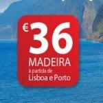 TAP com Voos Promocionais para a Madeira por 36 euros