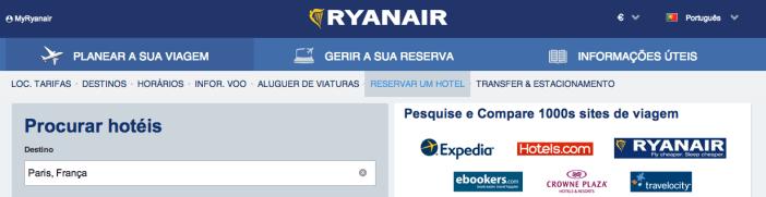 Promoções Booking e Ryanair