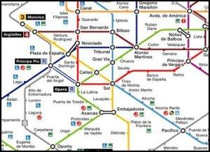 Linhas de Metro em Madrid