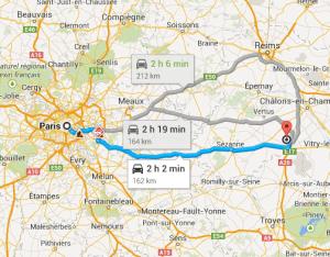 Do aeroporto de Vatry para Paris