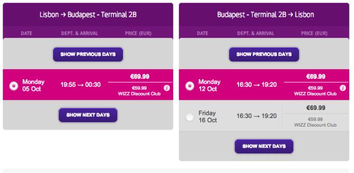 Wizzair com voos baratos para Budapeste