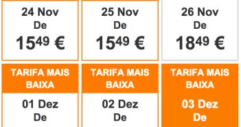 Promoções na Easyjet e Ryanair