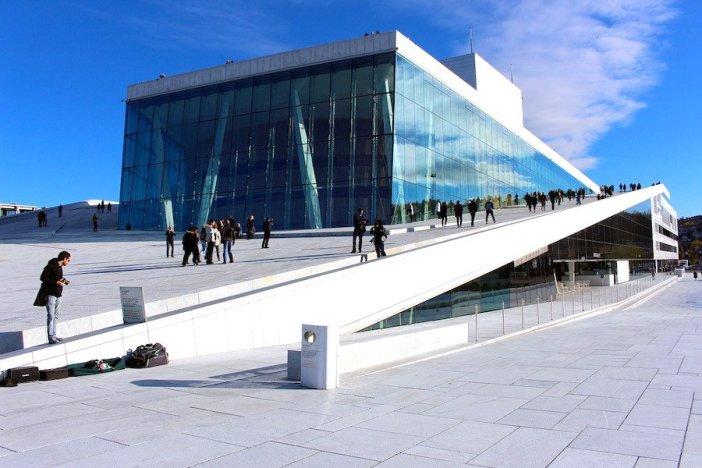 Vista panorâmica da Ópera de Oslo
