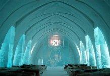 Hotel feito em gelo