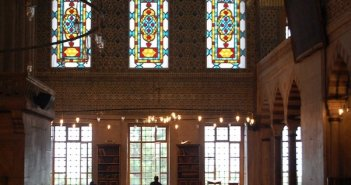 Interior da Mesquita Azul - Istambul
