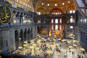 Interior Basílica Santa Sofia - Istambul