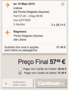 Voos baratos na Easyjet para os Açores