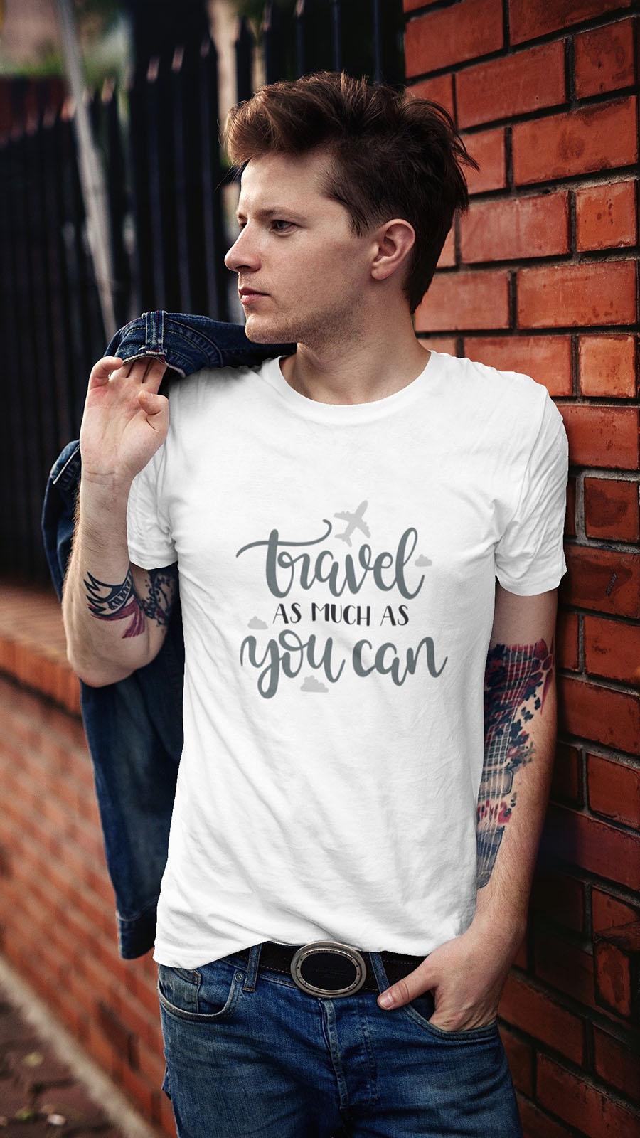 Camiseta com temas de viagem