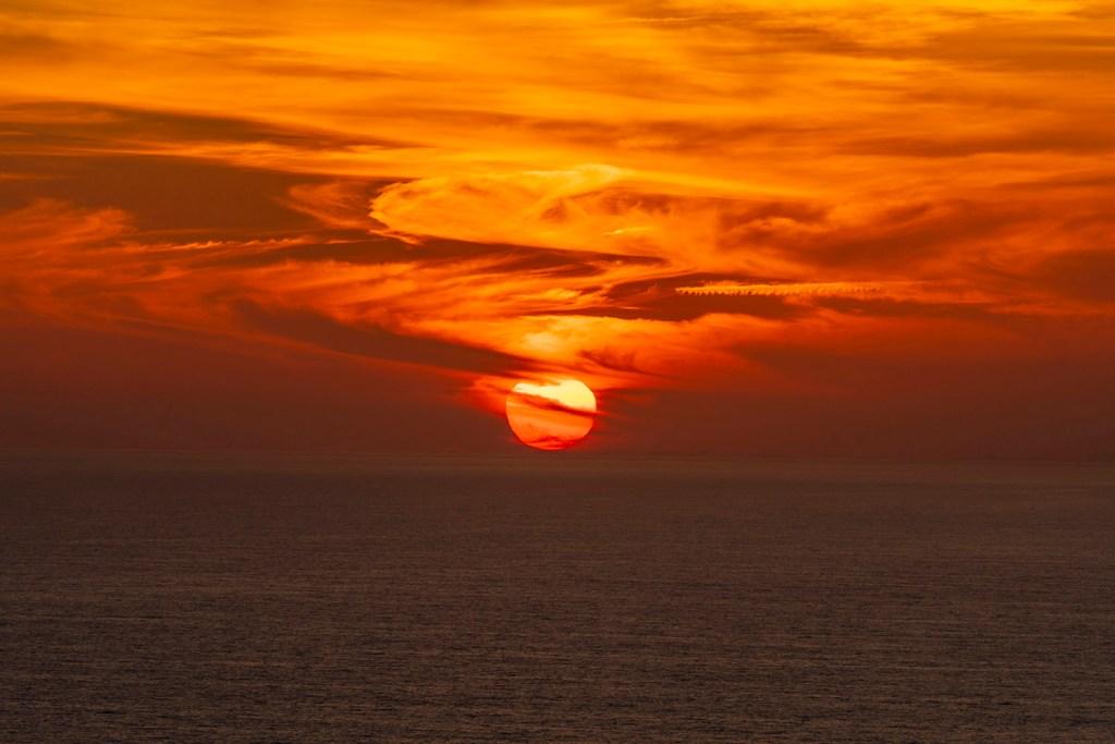 O pôr do sol incrível em Panama City Beach (Foto: Andy Spinelli)