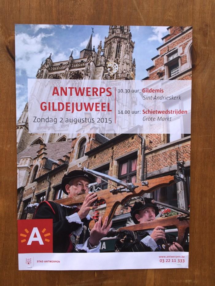 Cartaz festa em Antuérpia