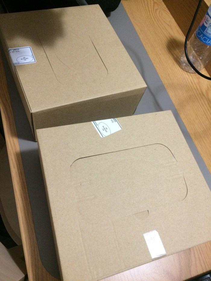 Nossas caixas com alimentos. Foto: GGOP / Blog Destinos por onde andei...