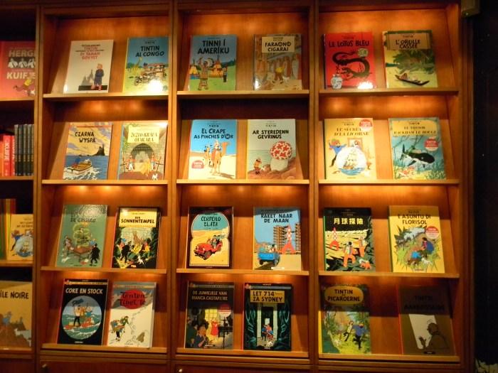 Livros e revistas de Tintin