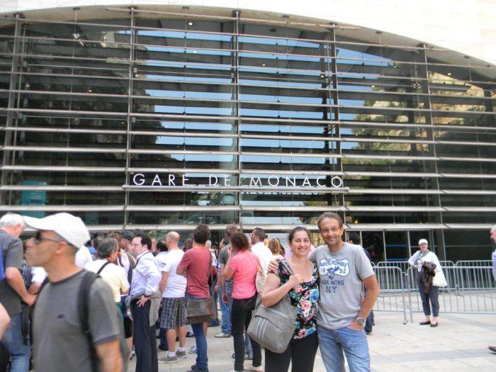 Gare de Mônaco, voltando para Nice