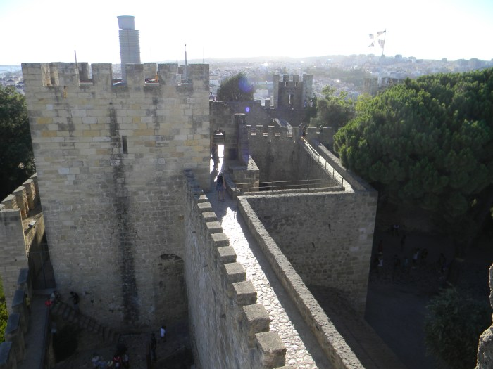 Detalhes do Castelo de São Jorge Lisboa