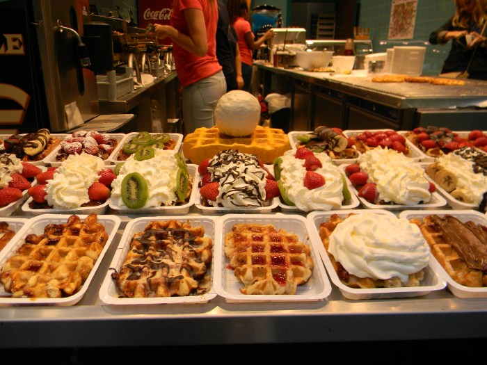 Deliciosos waffles belgas