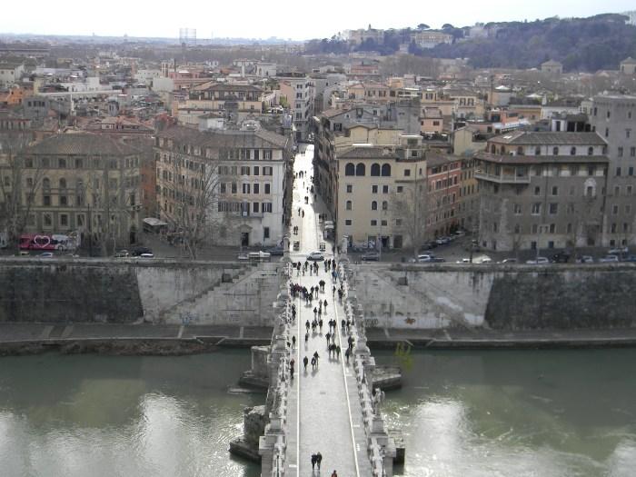 E a vista maravilhosa de Roma