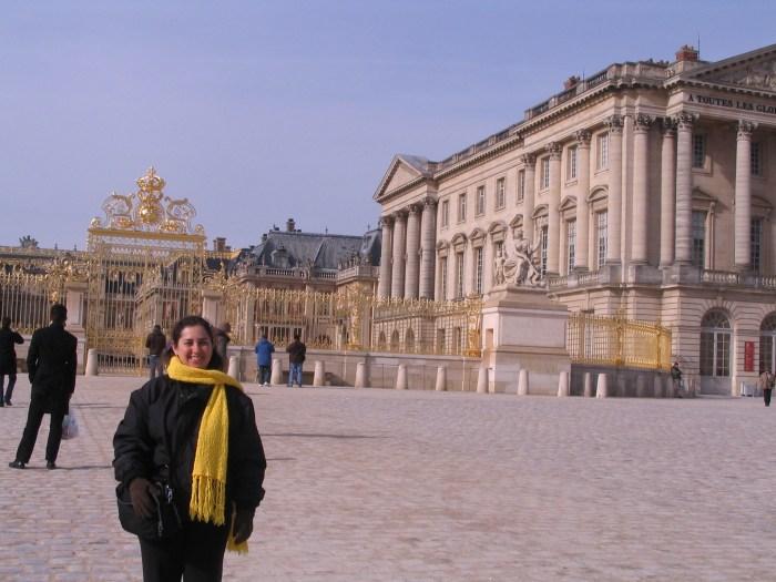 Chegando ao Castelo de Versalhes