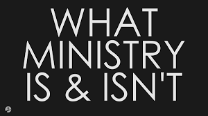 MINISTRY IS NOT PERFORMANCE