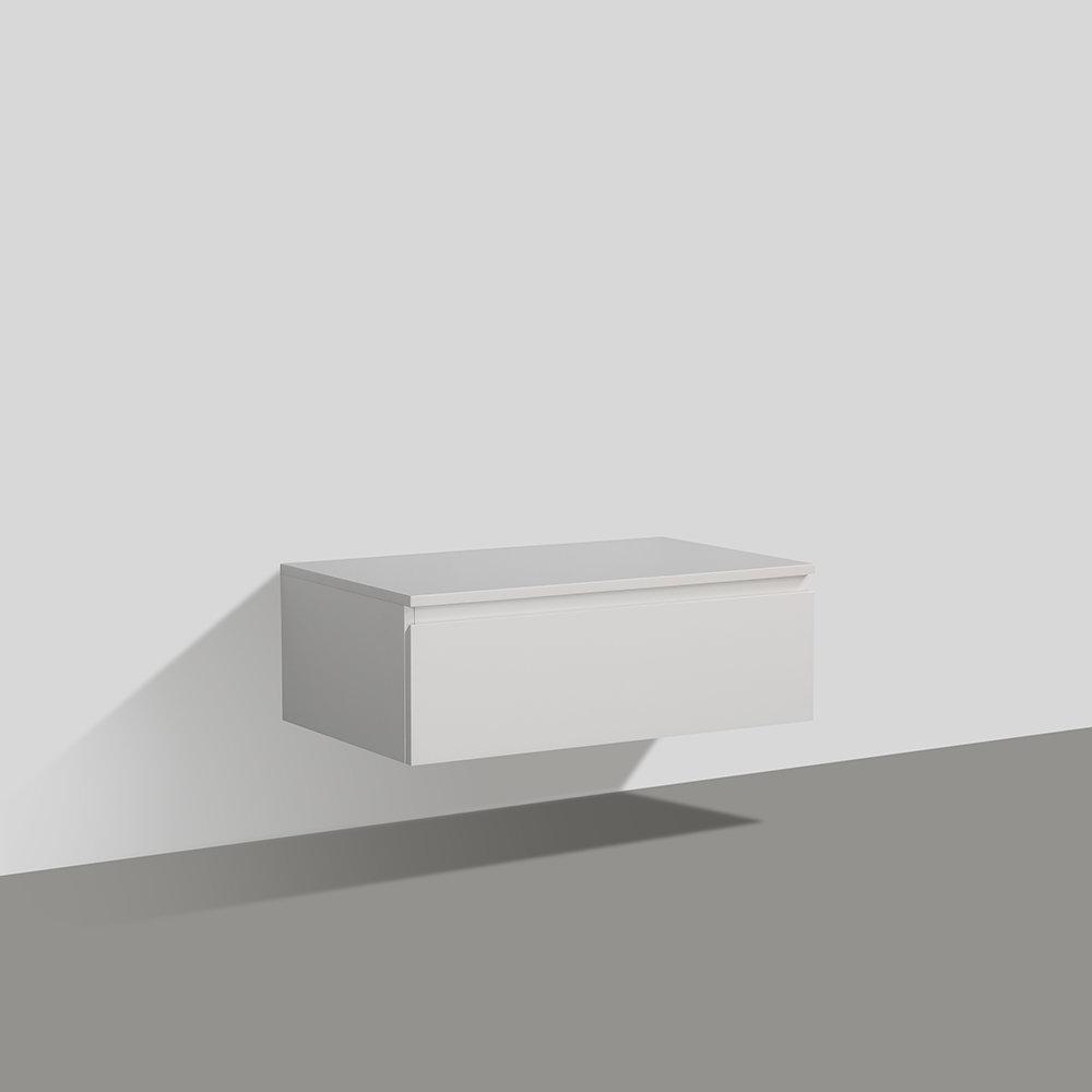 Meuble Salle De Bain A Suspendre 80 Cm Avec Freins Progressifs
